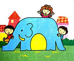 大象滑梯笑了