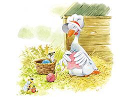 鹅妈妈孵蛋的故事
