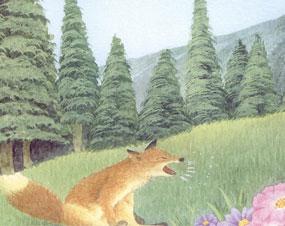 一个大喷嚏吓退了狼