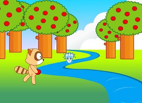 浣熊和小溪