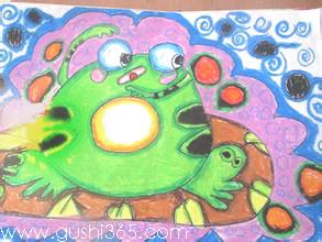 小青蛙学画画