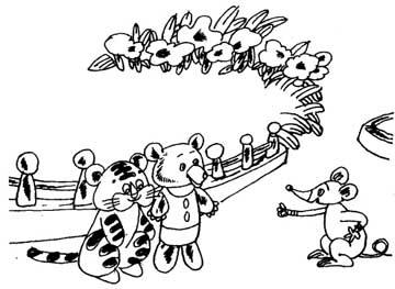 布老虎和绒毛熊