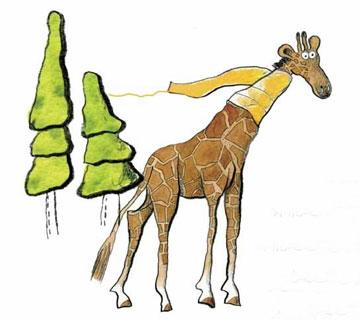 长颈鹿的围巾