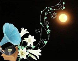 月亮和喇叭花