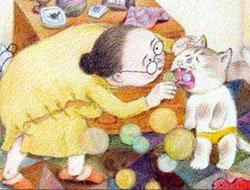 老奶奶和小花猫的故事(小花猫戴眼镜)