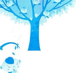 桃樹和矮腳樹