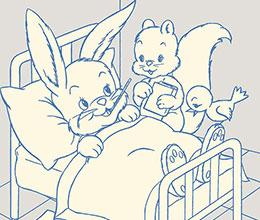 生病的兔子
