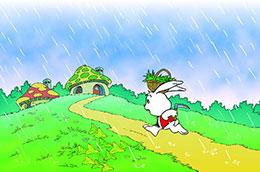 小白兔:要下雨了