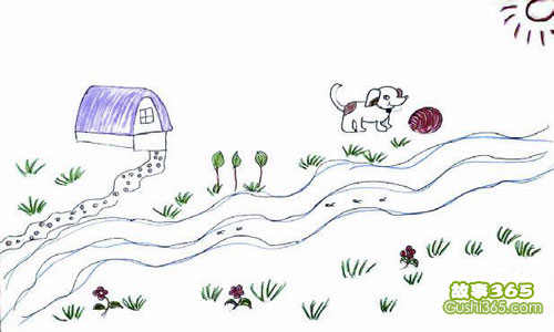 線團和小狗的故事