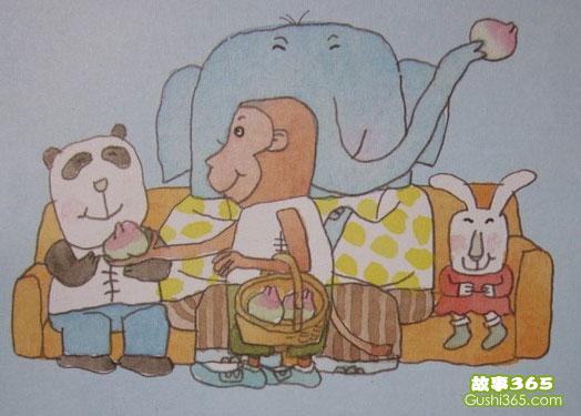 小班故事|小猴请客