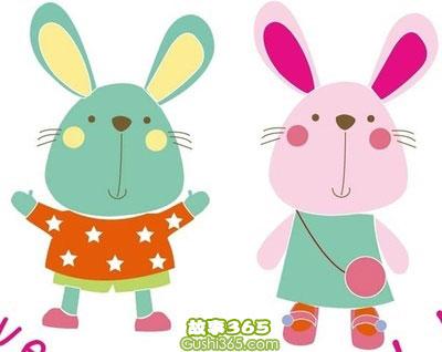 两只小兔子