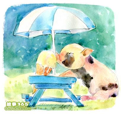 """有的人嚷嚷着:""""好可爱的小猪呀,它的主人上哪里去了呢?"""