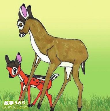 故事:小鹿斑比智斗大灰狼
