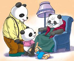有礼貌的熊猫宝宝