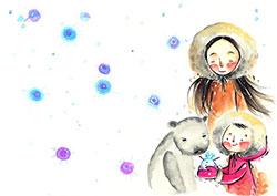 熊媽媽變成小女孩