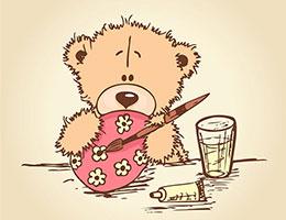 小熊学画画