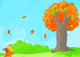 一片树叶落下来