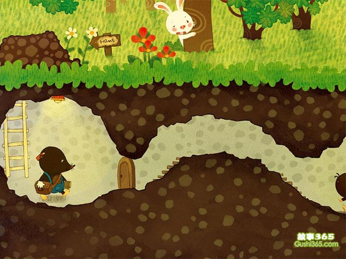 下雨的故事_善良的小鼹鼠 - 幼儿故事 - 故事365