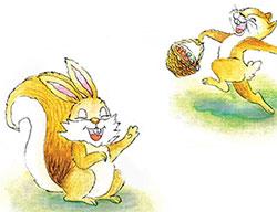大尾巴松鼠小尾巴兔