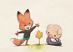 小狐狸接尾巴