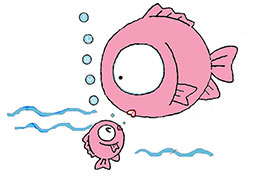 开心的大鱼和小鱼