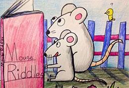 小老鼠看书