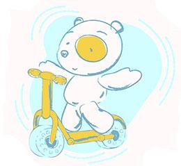 小熊的滑板車