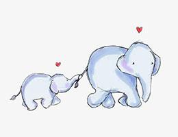 没有长鼻子的小象