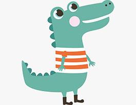 有一只鳄鱼是这样的