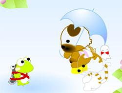 花猫和青蛙