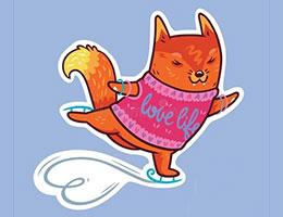溜冰的狐狸