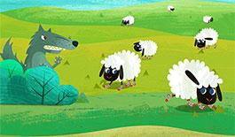 大灰狼和七只小羊
