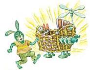 皮皮兔和喷气摇篮