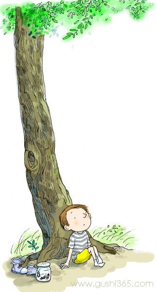树上的鞋子