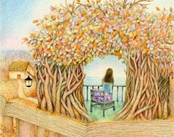 頭上長樹的女孩