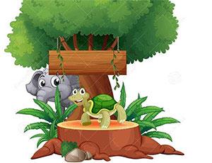 乌龟和大象比力气