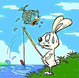 小白兔钓鱼