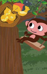 故事:不爱睡觉的小猴子