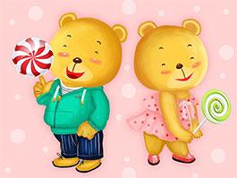 兩只小熊和猴裁判
