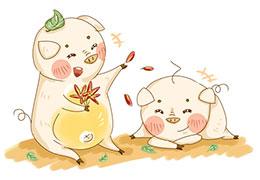 兩只小豬蓋房子
