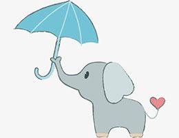 小象和大傘