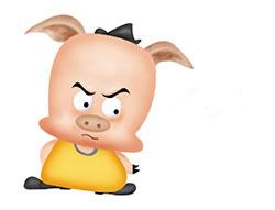 小猪的鼻子生气了