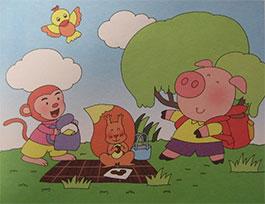 小猪胖胖的野餐