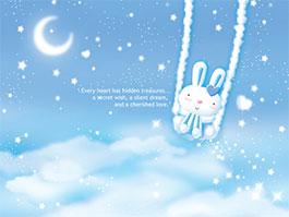一只耳朵的兔子