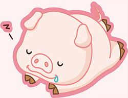 豬媽媽午睡
