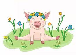 小猪比鲁的花环