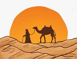小白兔画骆驼