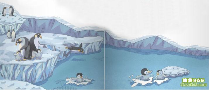 往下跳哇,小企鹅