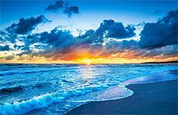 夕阳与大海