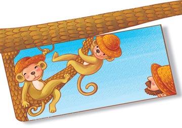 小猴子戴草帽